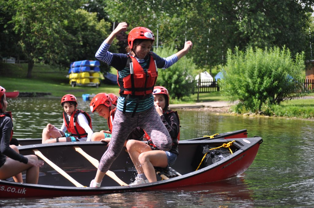 Canoeing at World Camp